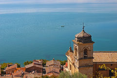 A igreja no mar Fotografia de Stock