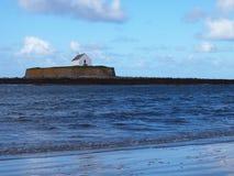 Igreja no mar, ilha de Anglesey, Gales fotos de stock royalty free