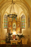 Igreja no Natal Imagens de Stock Royalty Free