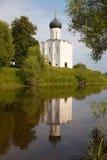 Igreja no Nerl Fotos de Stock Royalty Free