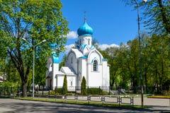 Igreja no parque imagem de stock