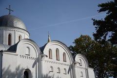 Igreja no parque do outono Imagens de Stock