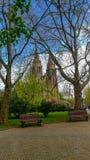 Igreja no parque em Praga, República Checa imagens de stock royalty free