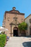 A igreja no Poble Espanyol, Spain. imagem de stock