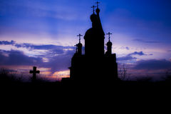 Igreja no por do sol Foto de Stock Royalty Free