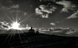 Igreja no por do sol Foto de Stock
