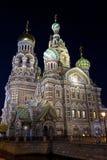 Igreja no sangue derramado em St Petersburg fotografia de stock royalty free