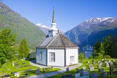 Igreja Noruega de Geiranger fotos de stock royalty free