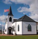 Igreja norueguesa no louro de Cardiff Fotografia de Stock Royalty Free