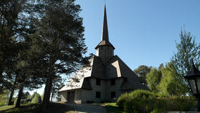 Igreja norueguesa, porta Fotografia de Stock Royalty Free