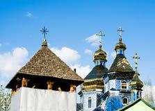 Igreja nova em Kolochava Transcarpathia ucrânia Foto de Stock Royalty Free
