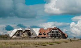 Igreja nova que está sendo construída nos brejos Imagem de Stock Royalty Free