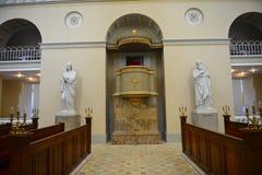 Igreja onde o príncipe herdeiro Frederik e Mary se casou foto de stock