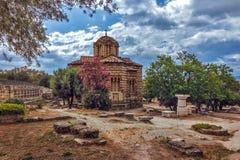 Igreja ortodoxa bizantina - ágora antiga - Atenas - Grécia Foto de Stock Royalty Free