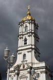 Torre de sino cristã da igreja ortodoxa Imagem de Stock Royalty Free