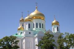 A igreja ortodoxa da catedral de Rostov Fotos de Stock Royalty Free