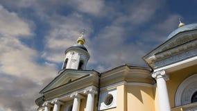 Igreja ortodoxa da mãe da alegria do ` do deus de tudo que ` da amargura, Bolshaya Ordynka, Moscou, Rússia vídeos de arquivo