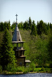Igreja ortodoxa de madeira velha, ilha de Kizhi, Carélia, Rússia imagem de stock