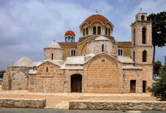 Igreja ortodoxa de pedra, Chipre Imagens de Stock Royalty Free