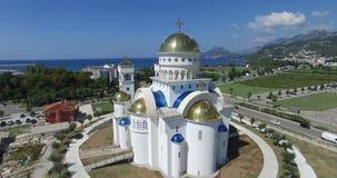 Igreja ortodoxa de Saint Jovan Vladimir em Montenegro filme