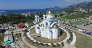 Igreja ortodoxa de Saint Jovan Vladimir em Montenegro video estoque