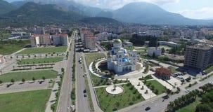 Igreja ortodoxa de Saint Jovan Vladimir em Montenegro vídeos de arquivo