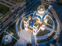 Igreja ortodoxa de Saint Jovan Vladimir na barra Fotos de Stock Royalty Free