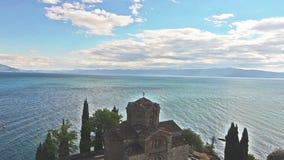 Igreja ortodoxa de St John em Ohrid video estoque