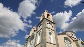 Igreja ortodoxa de St Panteleimon, a ilha do Rodes, Grécia video estoque