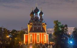 Igreja ortodoxa do ícone de Tikhvin de nossa senhora Imagens de Stock Royalty Free