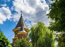 Igreja ortodoxa do Belvedere foto de stock