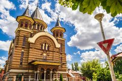 Igreja ortodoxa do Belvedere fotos de stock