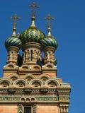 Igreja ortodoxa do russo da natividade Fotografia de Stock Royalty Free