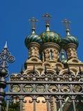 Igreja ortodoxa do russo da natividade Fotografia de Stock