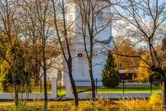 A igreja ortodoxa do russo de Boris e Gleb do século XVIII na vila de Belkino imagens de stock