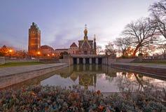 A igreja ortodoxa do russo em Darmstadt Foto de Stock Royalty Free