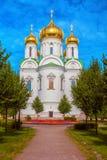 A igreja ortodoxa do russo na cidade de Pushkin Foto de Stock Royalty Free