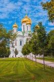 A igreja ortodoxa do russo na cidade de Pushkin Imagens de Stock Royalty Free