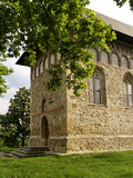 Igreja ortodoxa em Borzesti, Romania fotografia de stock