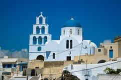 Igreja ortodoxa em Pyrgos Fotografia de Stock Royalty Free