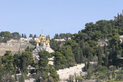 Igreja ortodoxa Jerusalem Israel do russo Foto de Stock Royalty Free