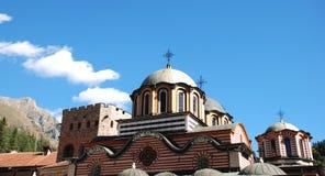 Igreja ortodoxa Monastério de Rila, Bulgária Imagens de Stock Royalty Free