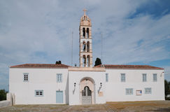Igreja ortodoxa na ilha grega Imagem de Stock