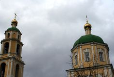 A igreja ortodoxa na região de Domodedovo Moscou Imagem de Stock Royalty Free