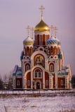Igreja ortodoxa na região de Kaluga (Rússia) Foto de Stock Royalty Free