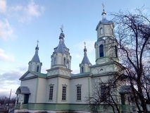 igreja ortodoxa na vila de Lukashi (Ucrânia) Fotos de Stock