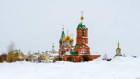 Igreja ortodoxa no inverno Rússia Imagem de Stock Royalty Free