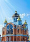 Igreja ortodoxa nova em Kyiv (Kiev), Ucrânia imagens de stock royalty free