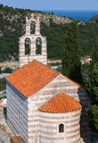 Igreja ortodoxa pequena no monastério Gradiste Foto de Stock Royalty Free