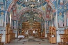 Igreja ortodoxa romena para dentro fotografia de stock